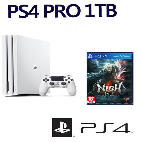 【SONY 索尼】PS4 Pro主機 CUH-7117系列 1TB 冰河白 搭配PS4遊戲片 仁王