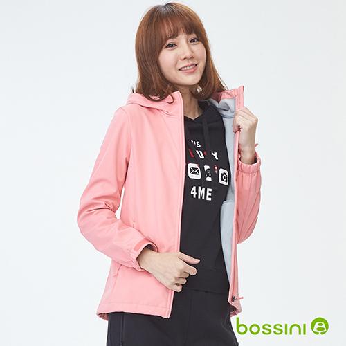 bossini女裝-機能複合外套01珊瑚色(品特)