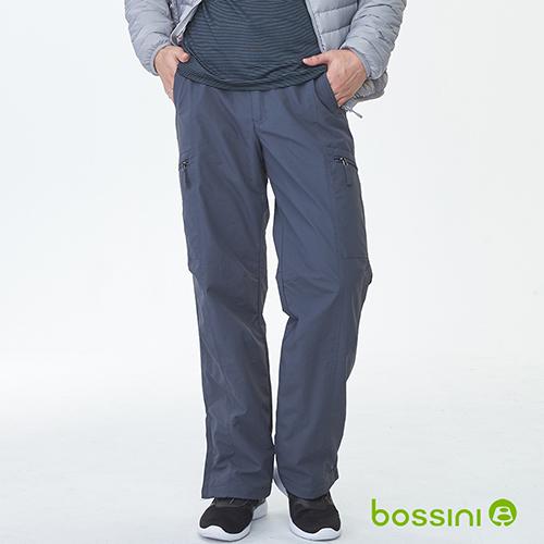 bossini男裝-(網路款)多功能防風雪褲鐵-灰(品特)