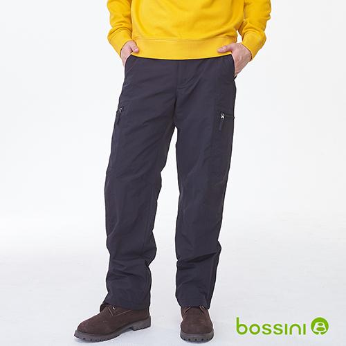 bossini男裝-(網路款)多功能防風雪褲-黑(品特)