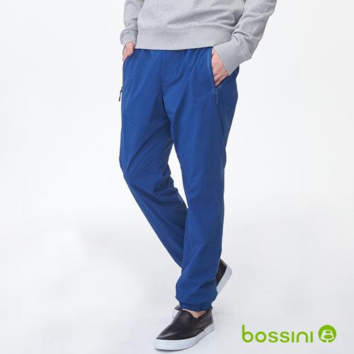bossini男裝-彈性輕便保暖褲01海藍(品特)
