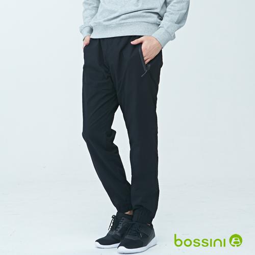 bossini男裝-彈性輕便保暖褲01黑(品特)