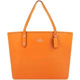 COACH 防刮皮革托特包-大型(橙黃色)