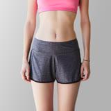 【n10.5】台灣製女款涼感彈性運動短褲 麻花灰 N30H25101-99