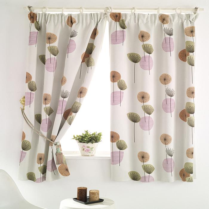 巴芙洛 花之頌半腰遮光窗簾-200x165cm