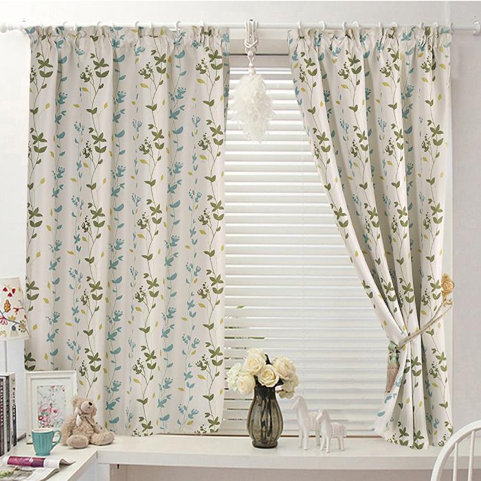 巴芙洛 西雅圖藍色半腰遮光窗簾-200x165cm