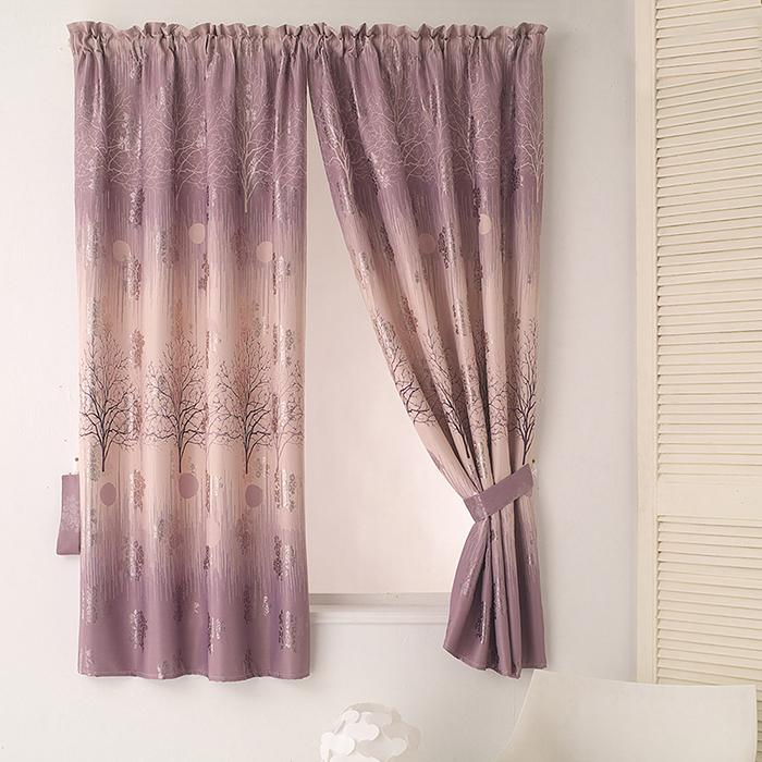 巴芙洛 左岸有愛印花半腰遮光窗簾-200x165cm