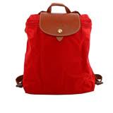 【LONGCHAMP】 LE PLIAGE尼龍折疊後背包(正紅色) L1699 089 545