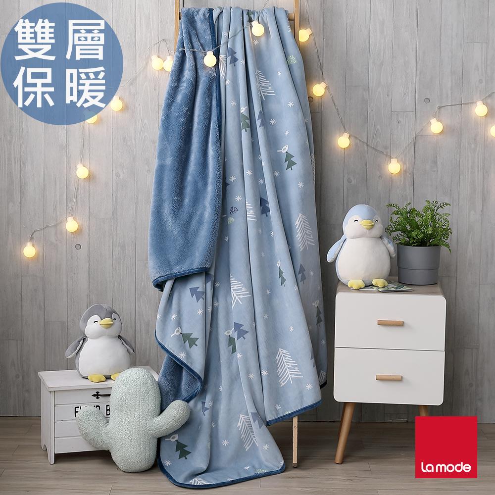 【La mode寢飾】小森林親柔毯(雙人)