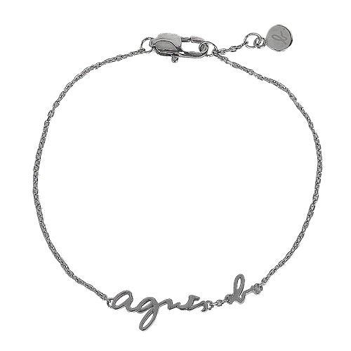 agnes b.-  b logo造型手鍊(銀)