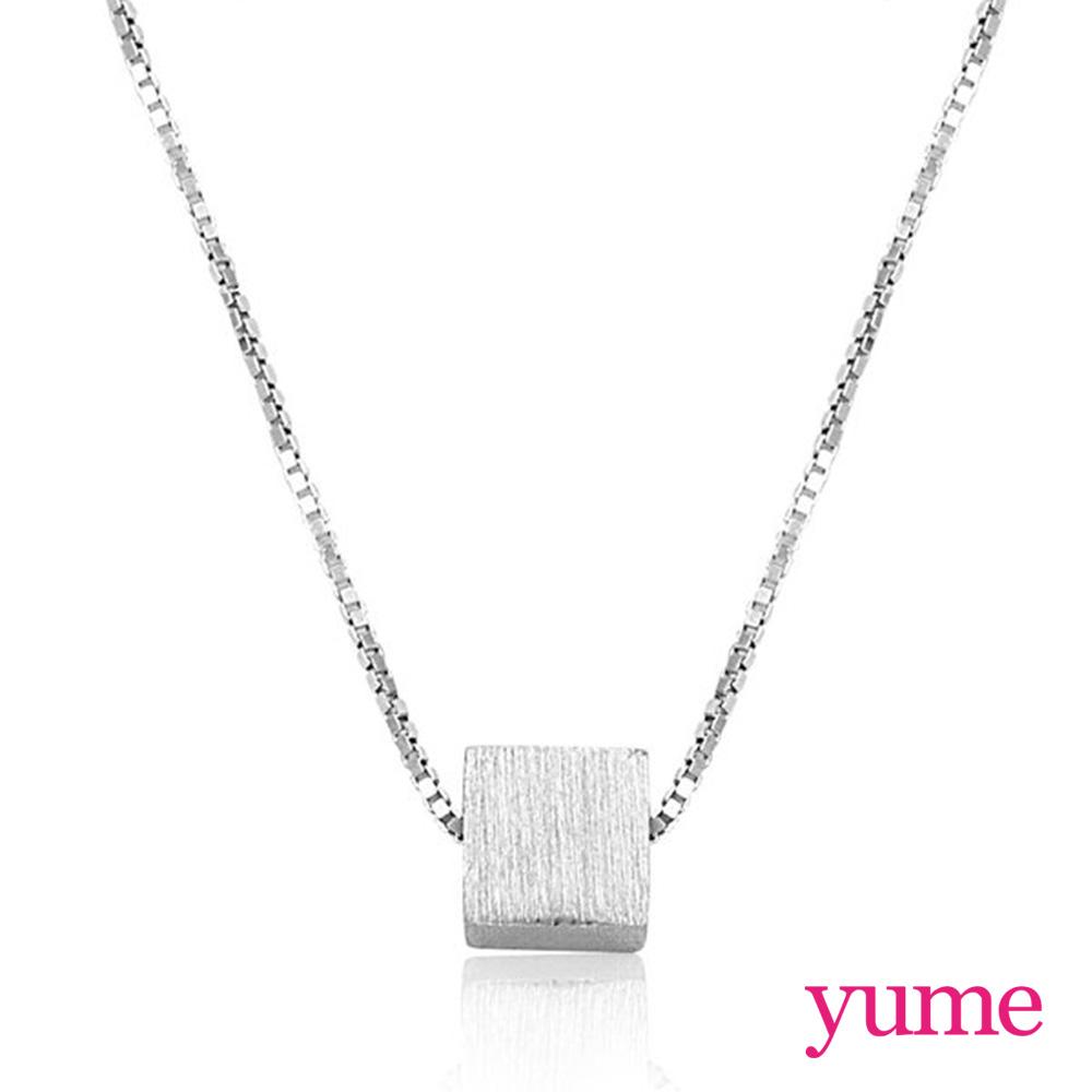 【YUME】  幾何小鐵方塊項鍊