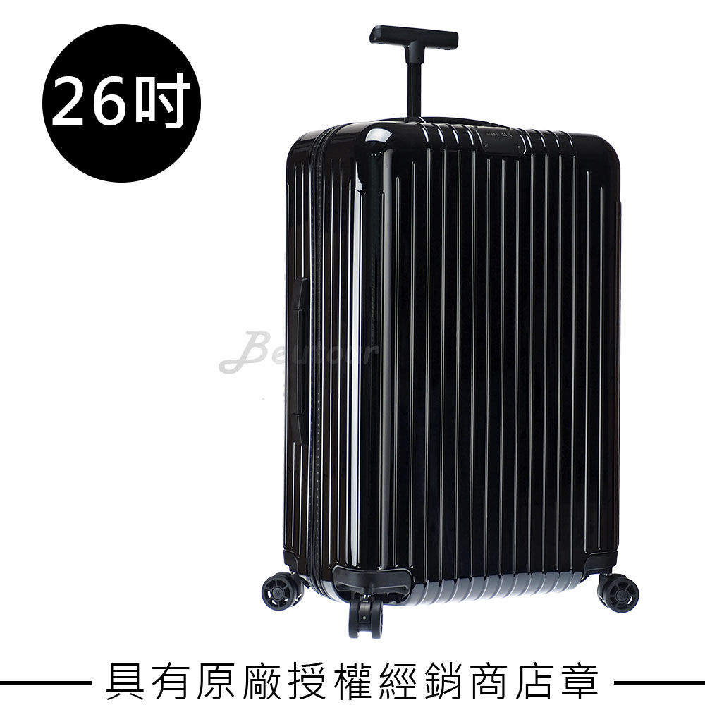 【RIMOWA】Essential Lite Check-In M 26吋行李箱 (亮黑色)
