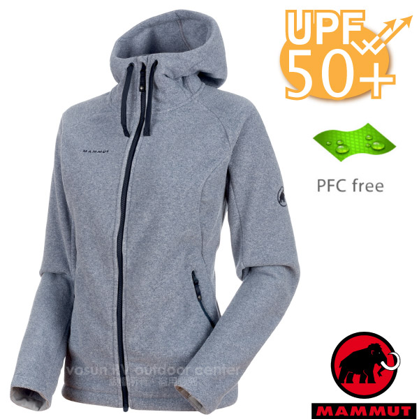 【瑞士 MAMMUT 長毛象】女新款 Yampa Advanced 輕量彈性保暖刷毛連帽外套.休閒夾克/抗紫外線UPF 50+/1010-22240-50102 海洋藍