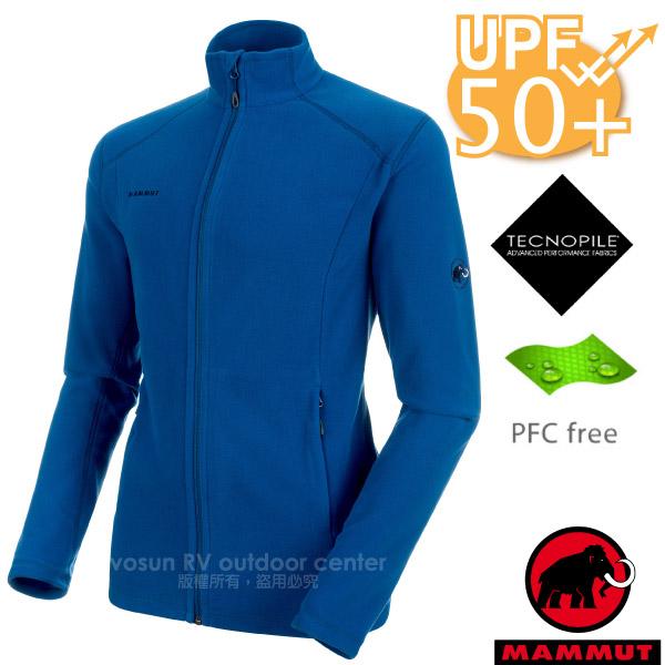 【瑞士 MAMMUT 長毛象】男新款 Yadkin Midlayer Jacket 彈性立領保暖外套.刷毛中層夾克/抗紫外線UPF 50+/1014-24961-5967 群青藍