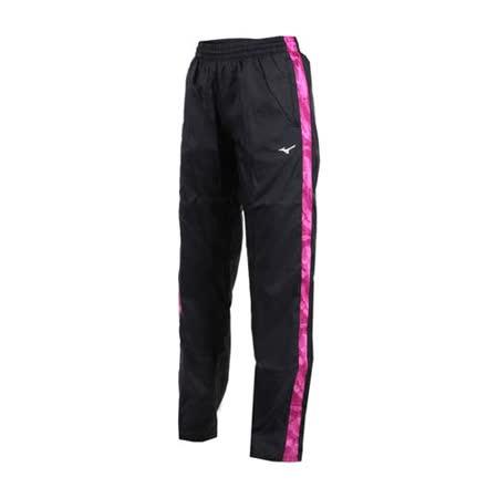 (女) MIZUNO 防風保暖長褲-慢跑 路跑 美津濃 黑紫白