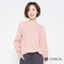 CHICA 少女安妮船型領燈籠袖上衣(3色)