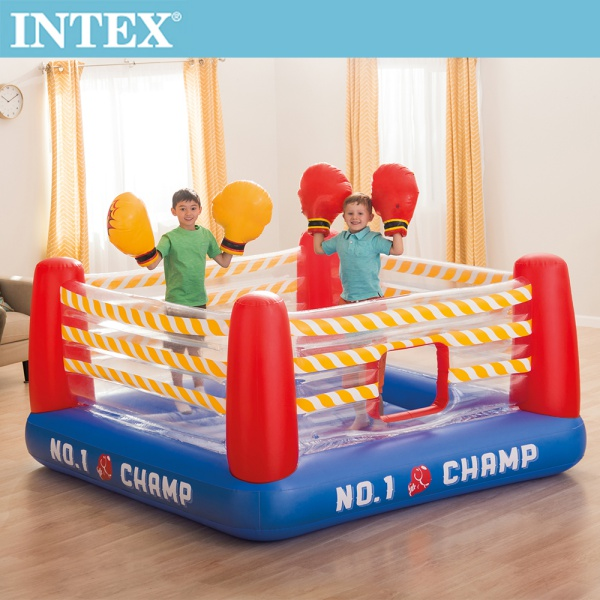 【INTEX】NO1 大型充氣拳擊場/跳跳床-附4個手套(48250)+送110V幫浦(66639)