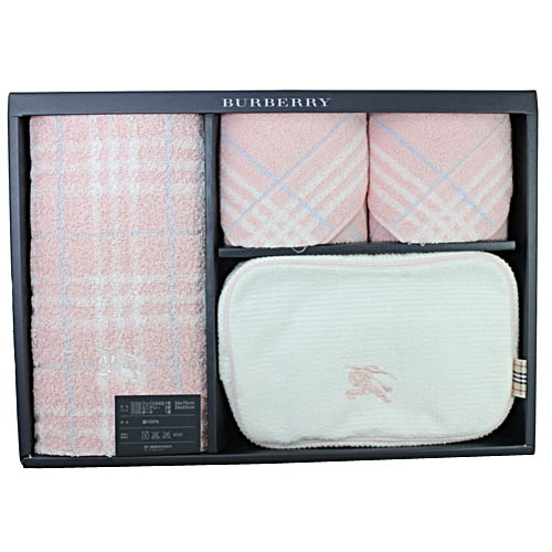 BURBERRY BURBERRY 戰馬化妝包毛巾禮盒(粉色)