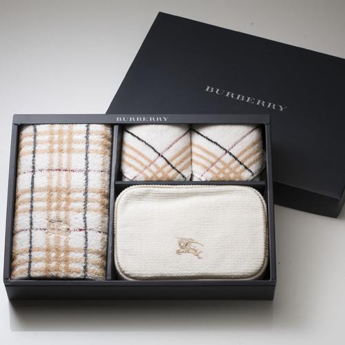 BURBERRY BURBERRY 戰馬化妝包毛巾禮盒(駝色)