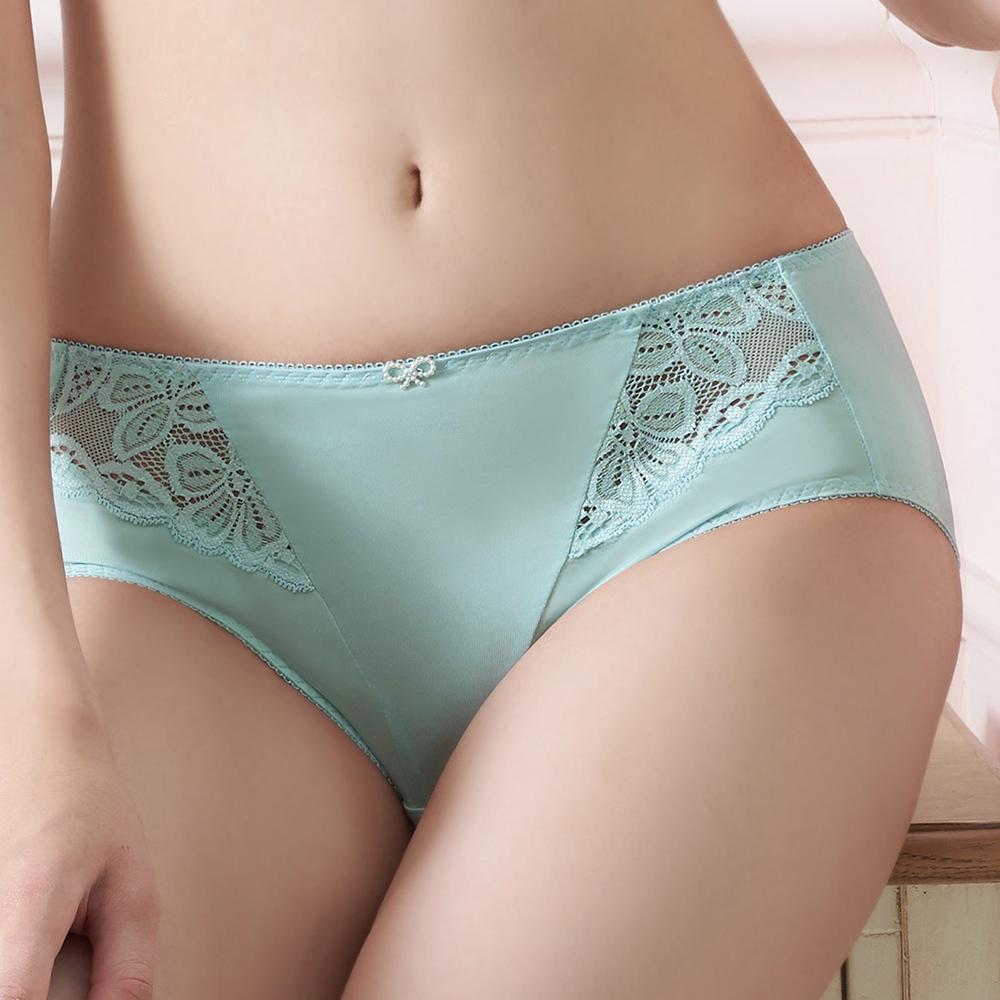 【EASY SHOP】誘香之吻 中腰平口褲(藍灰色)