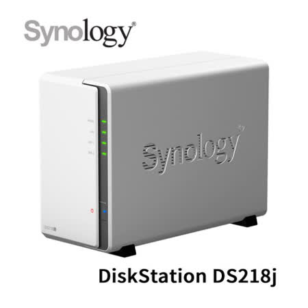 Synology DS218j 2Bay網路儲存設備