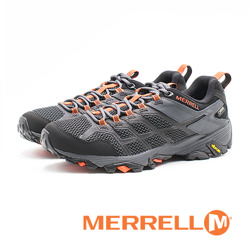 MERRELL GORE-TEX 健走鞋 耐磨抗菌 防水 登山鞋 運動鞋 防臭緩震 多功能 男鞋-黑(另有藍)