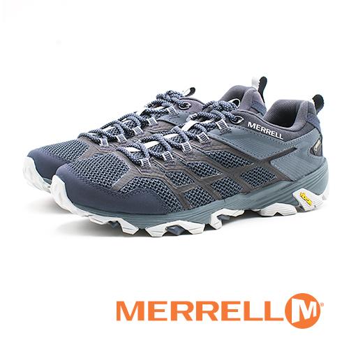 MERRELL GORE-TEX 健走鞋 耐磨抗菌 防水 登山鞋 運動鞋 防臭緩震 多功能 男鞋-藍(另有黑)
