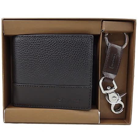 COACH  六卡中夾+鑰匙圈禮盒組