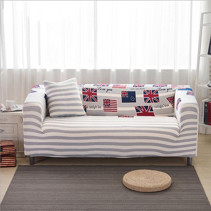 巴芙洛 英倫時尚彈性沙發套-3人座