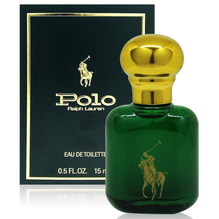 RALPH LAUREN POLO 綠色馬球男性淡香水 15ml (美國進口) 附隨機針管香水乙份