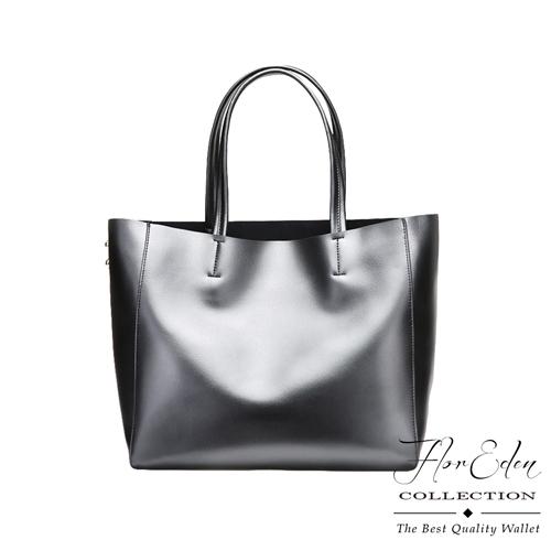 DF Flor Eden - 法式大容量珠光真皮單肩手提TWO-WAY包-共2色