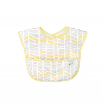 Hanspumpkin 防水圍兜-黃色格紋