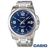 CASIO卡西歐 亞藍紳士躍動時光腕錶-藍x50mm MTP-1314D-2A