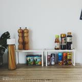 Peachy life 日系多功能可堆疊調味瓶罐架/收納架/掛勾/廚房收納