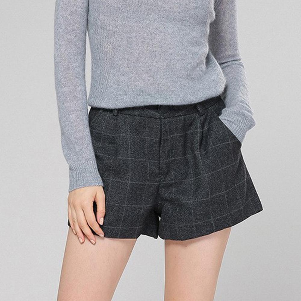麗質達人(XL-5XL)格紋小短褲5937