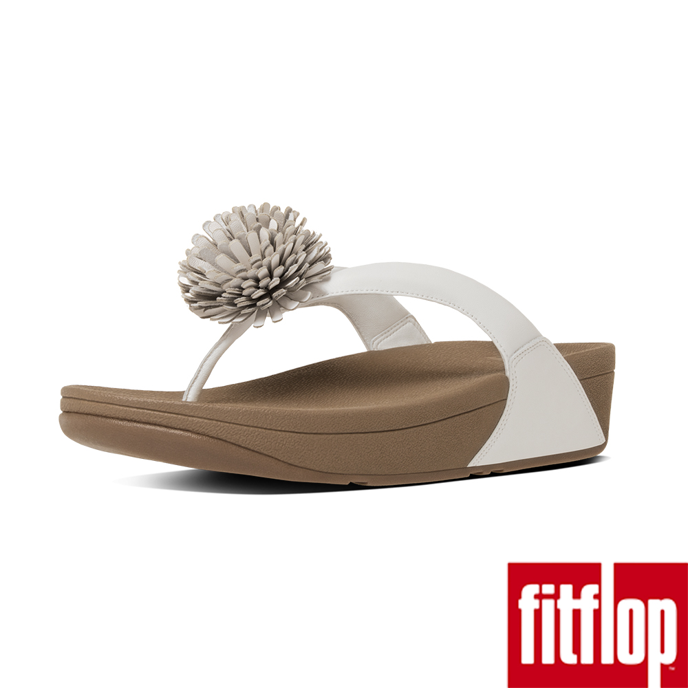 FitFlop TM-FLOWERBALL LEATHER TOE-POST-都會白