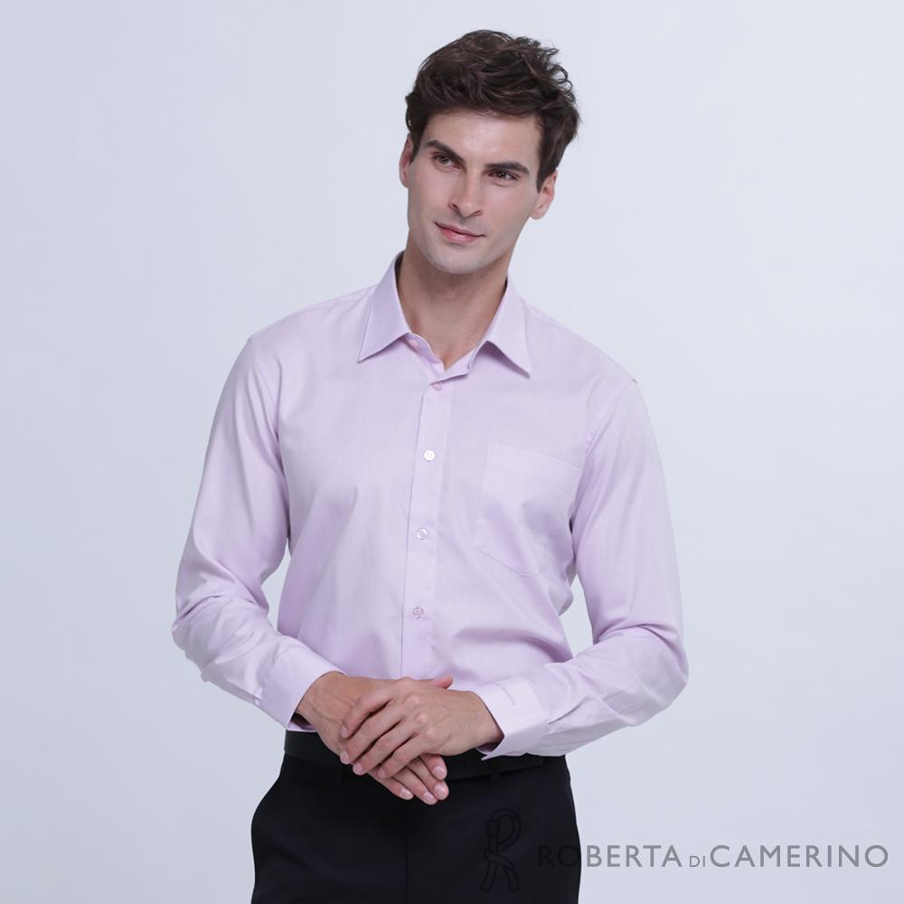 ROBERTA諾貝達 台灣製 商務型男 免燙長袖襯衫  紫色