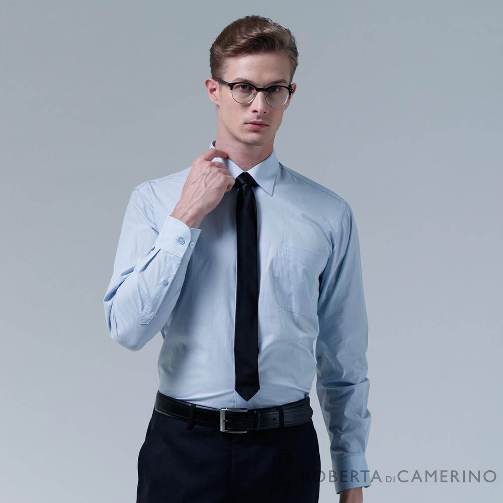 ROBERTA諾貝達 台灣製 優質嚴選 細條紋長袖襯衫 淺藍