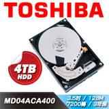 TOSHIBA【桌上型】4TB 3.5吋硬碟(MD04ACA400)