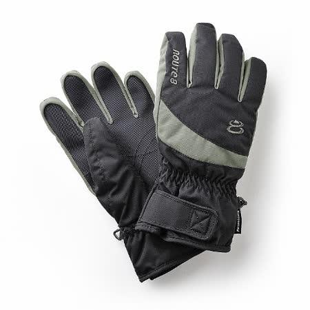 Route8 KORUS PRIMALOFT(可觸控滑屏)防水保暖手套 (黑色)