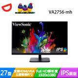 ViewSonic優派 VA2756-mh 27型 IPS面板 FHD液晶螢幕