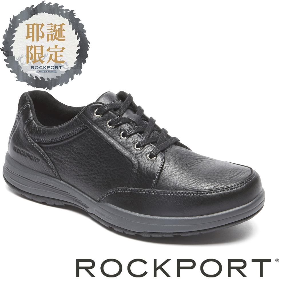 ROCKPORT特賣匯-城市玩家牛皮輕量休閒皮鞋-黑色ROM79870SC17