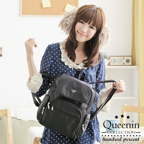 DF Queenin流行 - MIT輕旅行尼龍防潑水後背包(大)-共3色