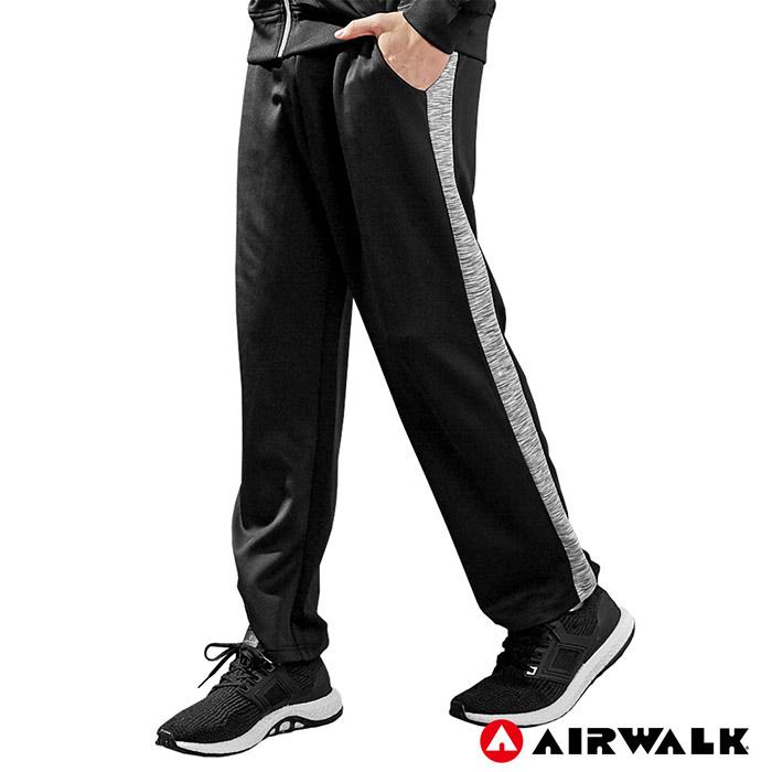 【AIRWALK】男POLY針織長褲-黑色