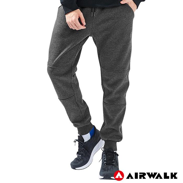 【AIRWALK】男款休閒棉長褲-麻灰