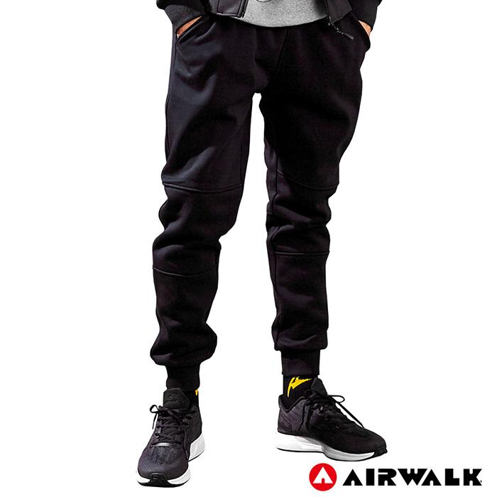 【AIRWALK】男款休閒棉長褲-黑色