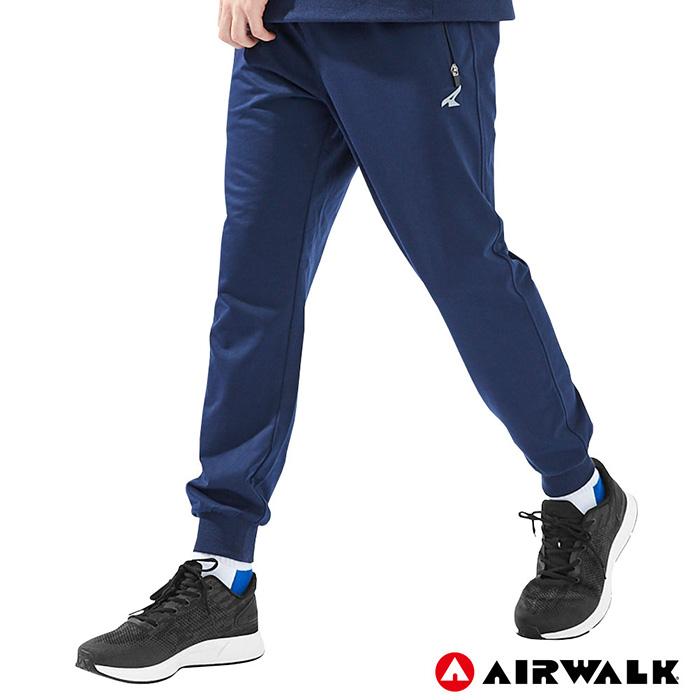 【AIRWALK】男款運動休閒長褲 -丈青