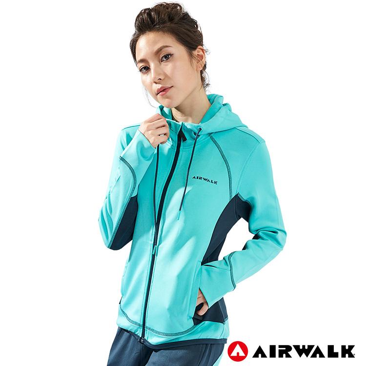 【AIRWALK】女款POLY針織外套-淺藍