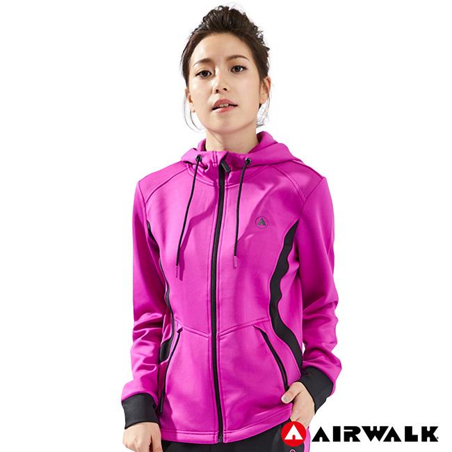 【AIRWALK】女款POLY針織外套-桃紅