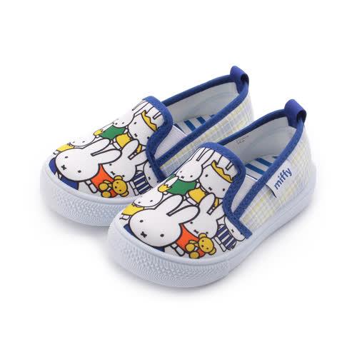 MIFFY 米飛兔印花套式布鞋 藍 中大童鞋 鞋全家福
